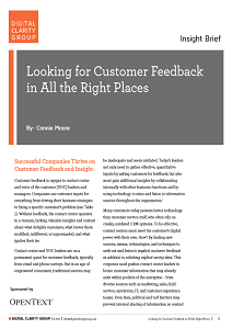 Looking for Customer Feedback in All the Right Places