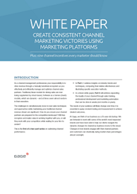 Whitepaper: Create Consistent Channel Marketing Victories Using Marketing Platforms