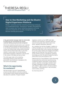 One-To-One Marketing and the Elusive Digital Experience Platform