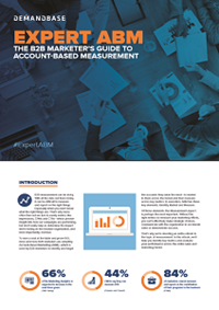 Expert ABM: The B2B Marketers Guide To Account-Based Measurement