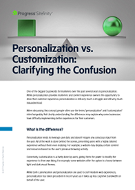Personalization vs. Customization: Clarifying the Confusion