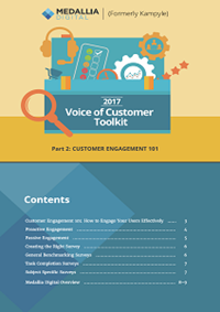 The 2017 Voice of Customer Toolkit - Part 2: Customer Engagement