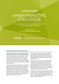 Whitepaper: When Marketing Goes Rogue