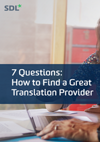7 Questions eBook: How to Find a Great Translation Provider