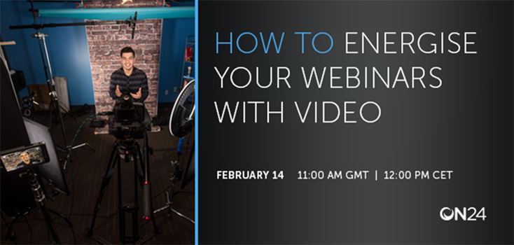 How to energise your webinars with video