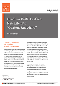 "Headless CMS Breathes  New Life into  ""Content Anywhere"""