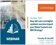 Webinar: How will voice and digital assistant searches impact your Global content and SEO Strategy?