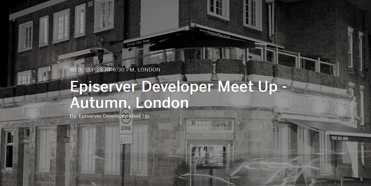 Episerver Developer Meet Up: Autumn - London