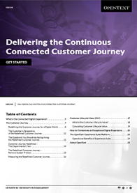 Delivering the Continuous Connected Customer Journey