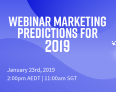 Webinar Marketing Predictions for 2019