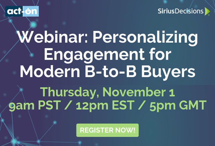 Personalizing Engagement for Modern B-to-B Buyers
