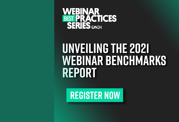 Unveiling of the 2021 Webinar Benchmarks Report