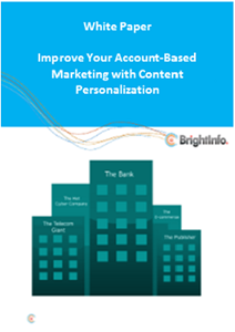 Improve Your Account-Based Marketing With Content Personalization
