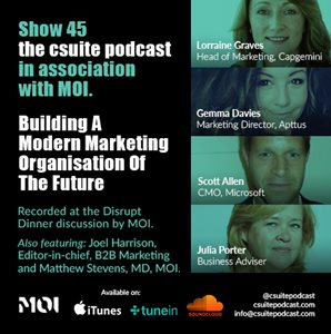 Building a modern marketing organisation of the future - Podcast with Microsoft, Apttus & Capgemini