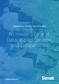 Marketers Survey Results 2018: An Insider's Look at Data, Walled Gardens, and Collaboration