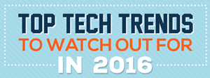 Top Tech Trends To Watch Out For In 2016 (Infographic)