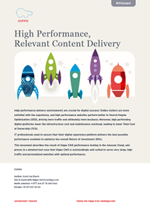 High Performance,  Relevant Content Delivery