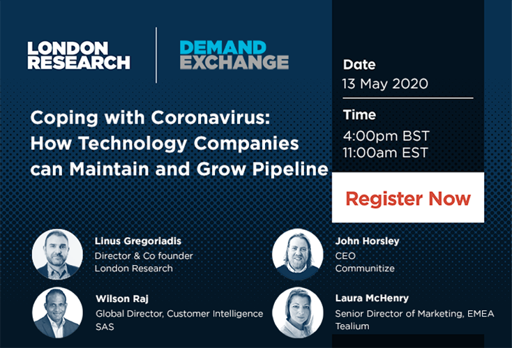 Live Webinar - Coping with Coronavirus: How Technology Companies can Maintain and Grow Pipeline