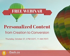 Webinar: Personalized Content - From Creation to Conversion