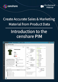 Introduction to the censhare PIM