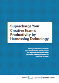Supercharge Your Creative Team's Productivity by Harnessing Technology