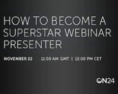 Webinar: How to Become a Superstar Webinar Presenter