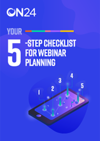 5 Step checklist for webinar planning