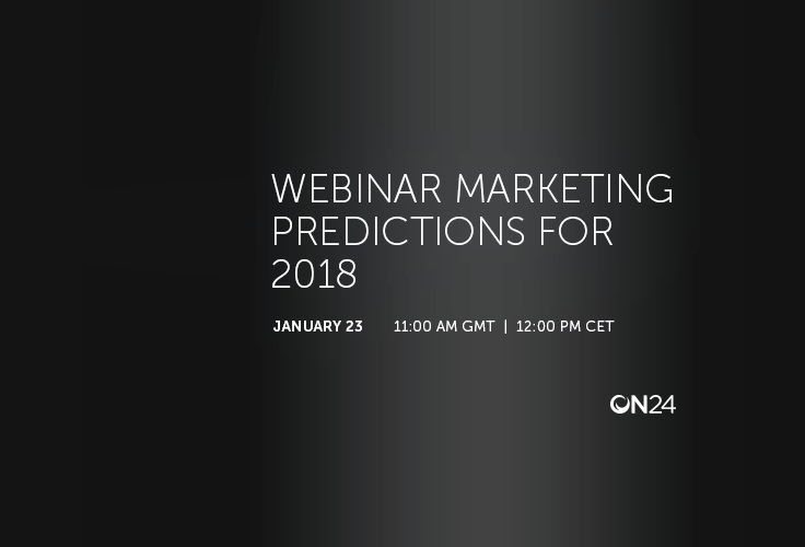 Webinar Marketing Predictions For 2018