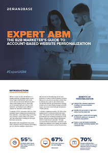 Expert ABM: B2B Marketers Guide To Account-Based Website Personalisation