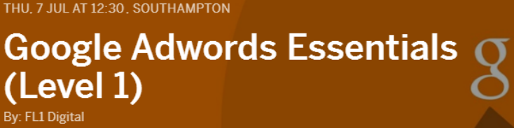 TRAINING: Google Adwords Essentials - Southampton
